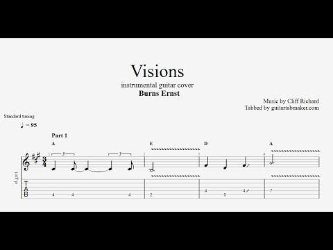 Burns Ernst - Visions TAB - easy instrumental guitar tabs (PDF + Guitar Pro)