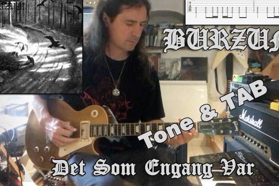 Burzum - Det Som Engang Var (Guitar Cover + TAB)