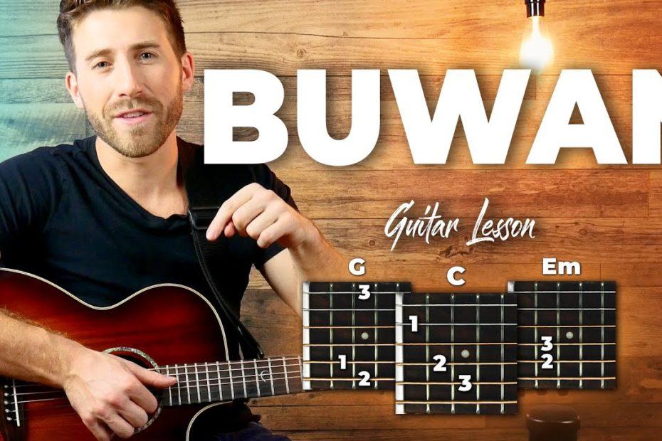 Buwan Guitar Tutorial (Juan Karlos Labajo) Easy Chords Guitar Lesson
