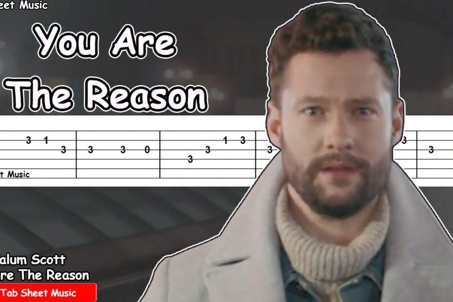 Calum Scott - You Are The Reason Guitar Tutorial