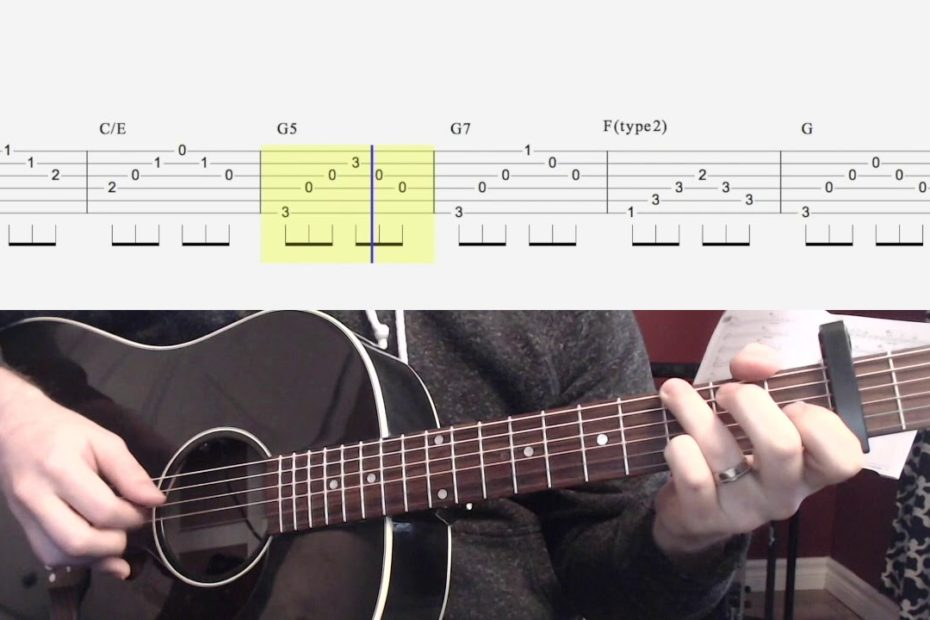 Can't Help Falling in Love Guitar Playalong and Chords