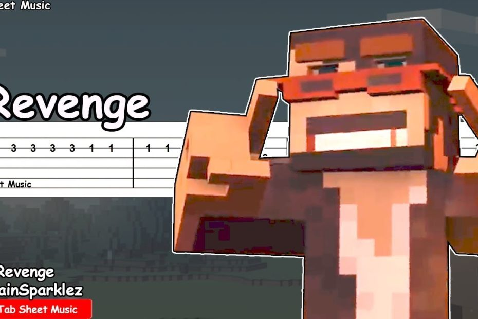 CaptainSparklez - Revenge Guitar Tutorial (Minecraft Parody of Usher's DJ's Got Us Falling In Love)