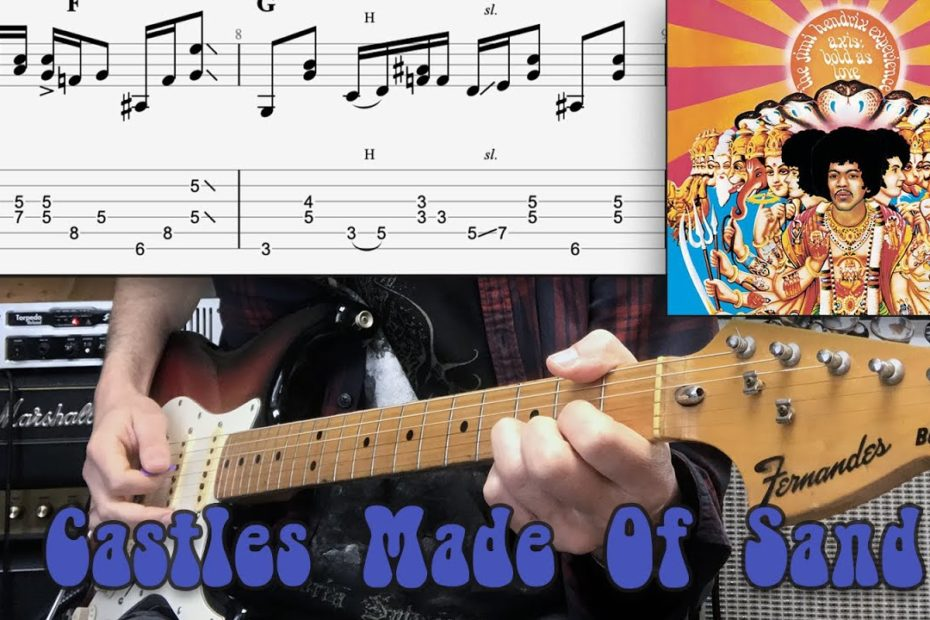 Castles Made Of Sand - Jimi Hendrix Cover   Guitar Tab   Tutorial   Lesson