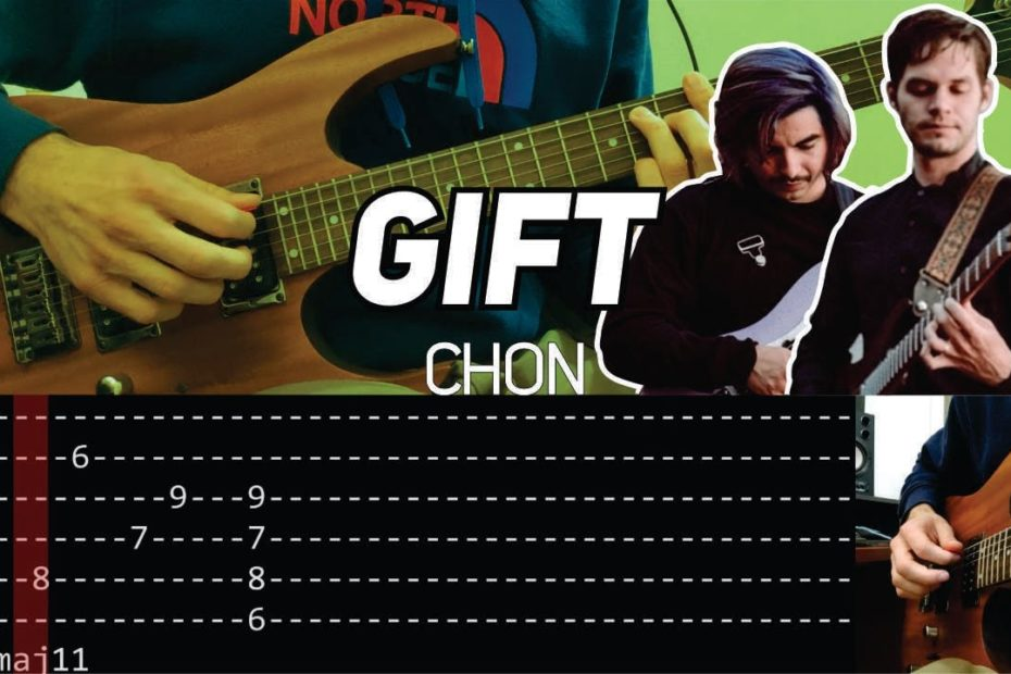CHON - Gift main riff (Guitar lesson with TAB) | Hardest Hybrid Picking Riff Ever?