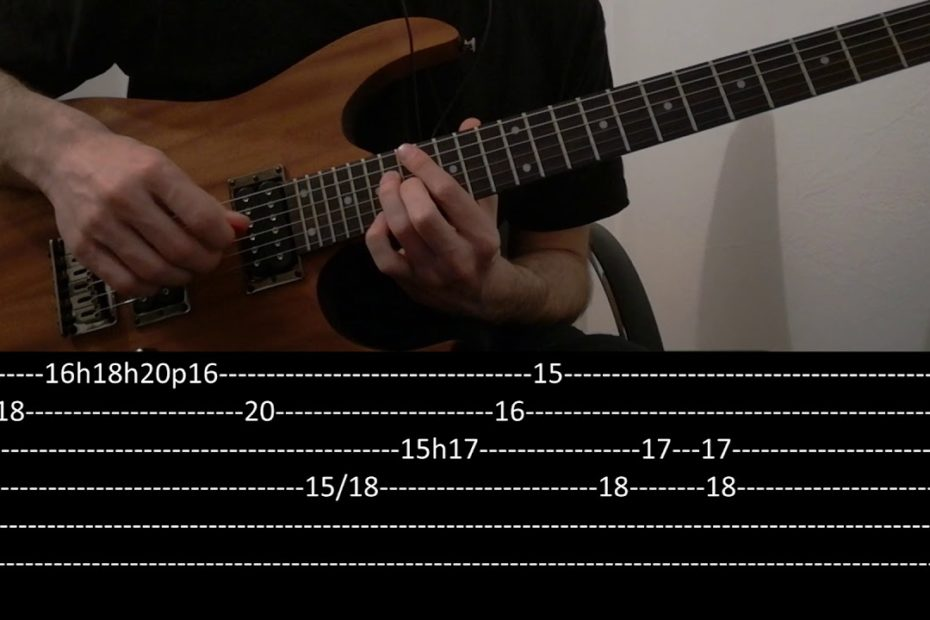 CHON -  Wave bounce intro & riff  (slow + tab)