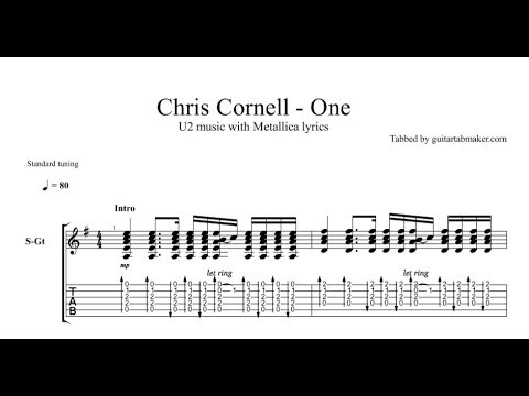 Chris Cornell - One TAB (live) acoustic guitar tabs (Guitar Pro)
