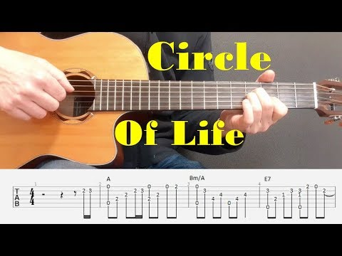 Circle Of Life/The Lion King - Elton John - Easy Fingerstyle guitar with tabs