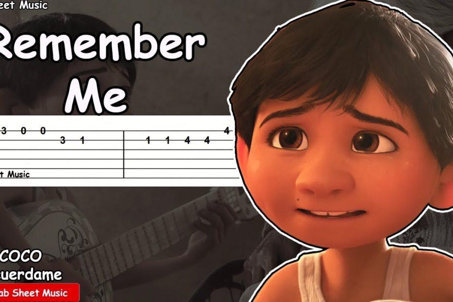 Coco - Remember Me (Recuerdame) Guitar Tutorial