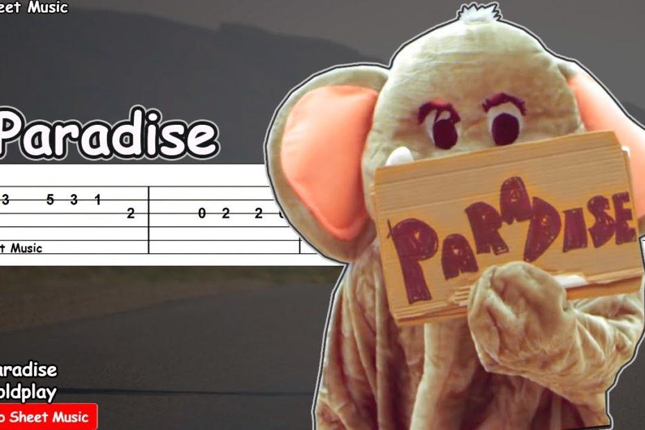 Coldplay - Paradise Guitar Tutorial   TAB