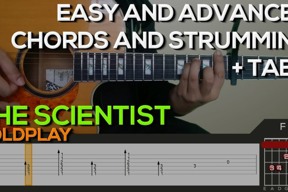 Coldplay - The Scientist Guitar Tutorial [CHORDS AND STRUMMING + TABS]