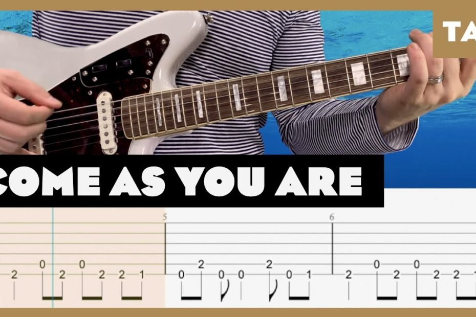 Come As You Are (Full Step, 1/2 Step, and Standard) Nirvana Cover | Guitar Tab | Lesson | Tutorial