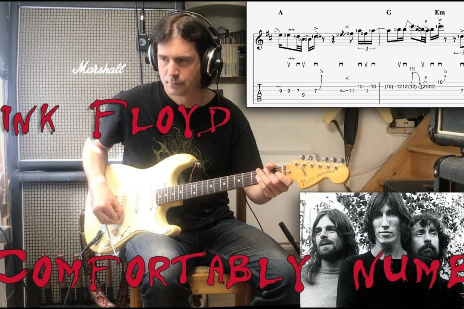 Comfortably Numb - Pink Floyd (2nd Solo) Tutorial TAB with 3 different tempos