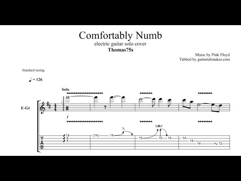Comfortably Numb solo TAB - Thomas75s - electric guitar solo tabs (Guitar Pro)