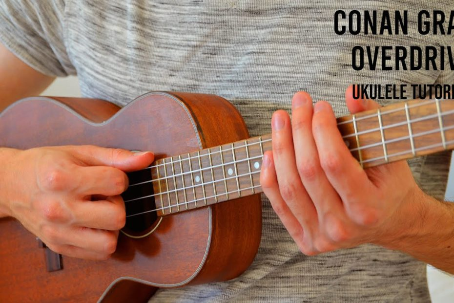 Conan Gray - Overdrive EASY Ukulele Tutorial With Chords / Lyrics