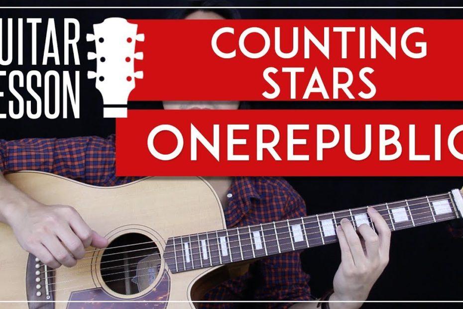Counting Stars Guitar Tutorial - OneRepublic Guitar Lesson    Easy Chords + No Capo + Guitar Cover 