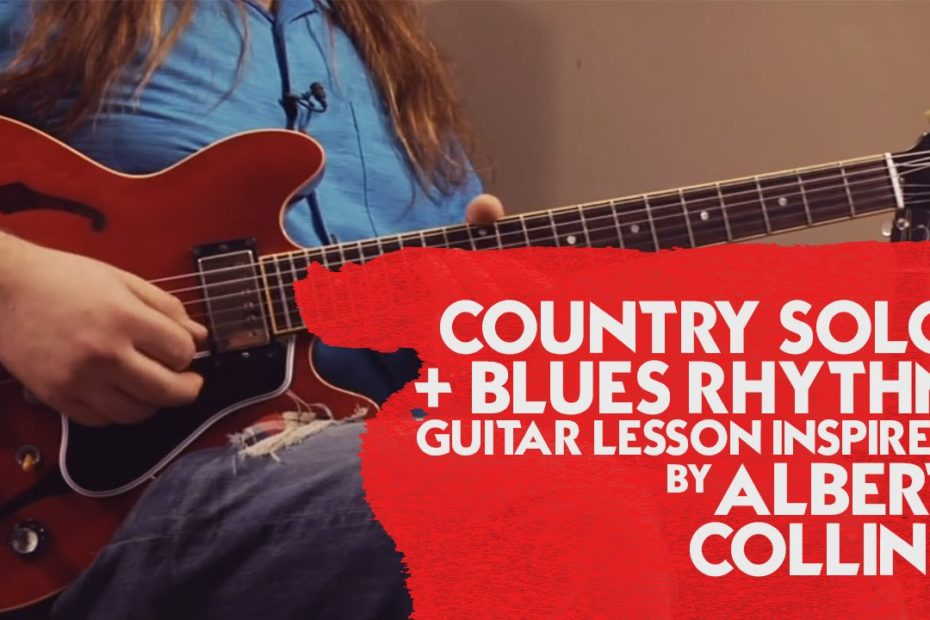 Country Solo + Blues Rhythm Guitar Lesson inspired by Albert Collins (Killer Blues Guitar Lesson)