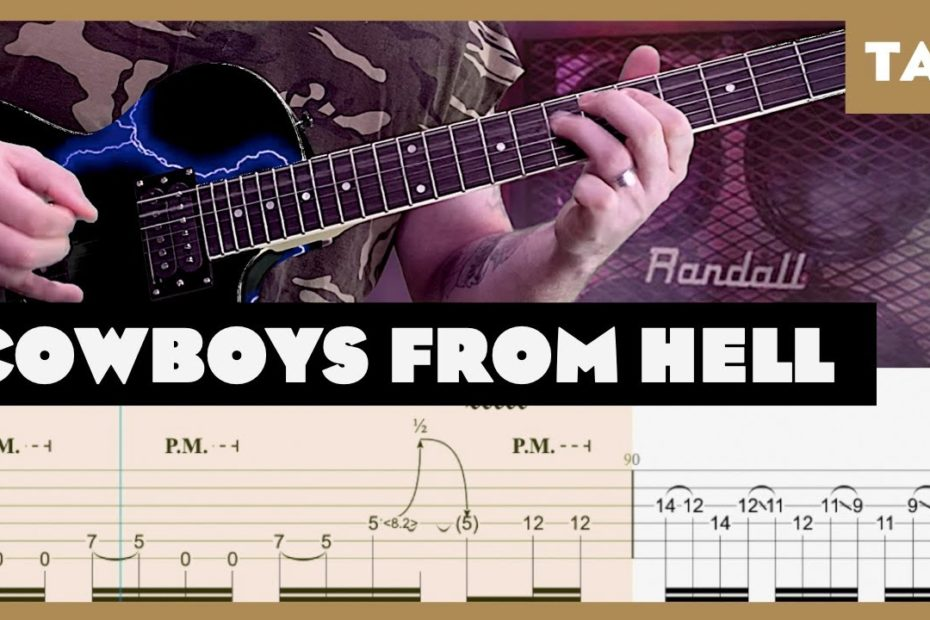 Cowboys from Hell Pantera Cover   Guitar Tab   Lesson   Tutorial   Donner