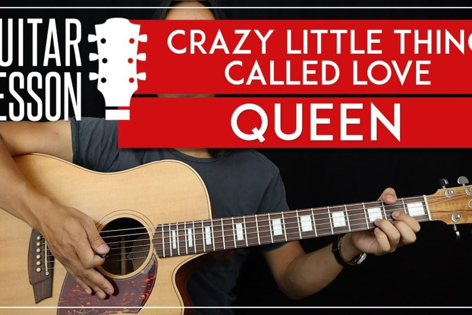 Crazy Little Thing Called Love Guitar Tutorial - Queen Guitar Lesson   |TABS + Easy Chords + Solo|