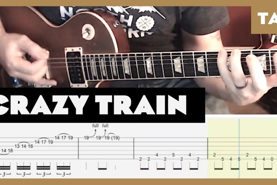Crazy Train Ozzy Osbourne Cover   Guitar Tab   Lesson   Tutorial