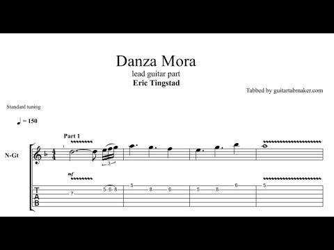 Danza Mora TAB - acoustic spanish guitar solo tab (PDF + Guitar Pro)