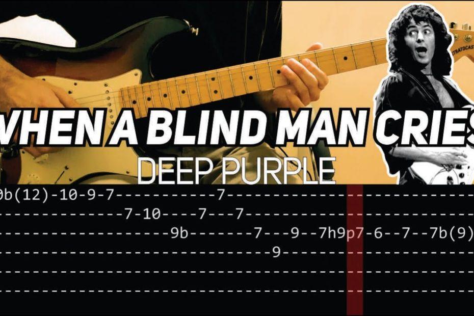 Deep Purple - When a Blind Man Cries solos (Guitar lesson with TAB)