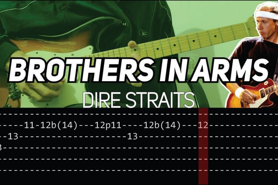 Dire Straits - Brothers in Arms solo (Guitar lesson with TAB)