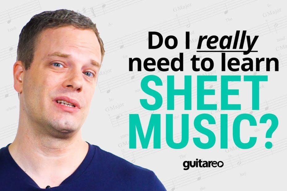 Do You Need To Learn Sheet Music? | Guitareo POV