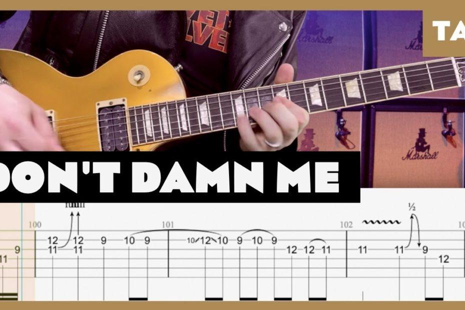 Don't Damn Me Guns N' Roses Cover | Guitar Tab | Lesson | Tutorial