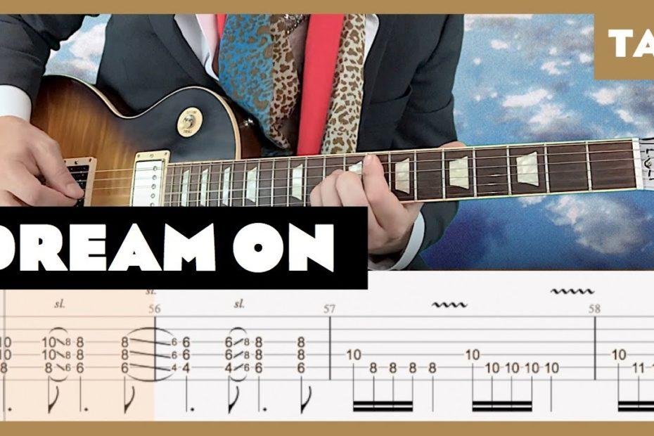 Dream On Aerosmith Cover | Guitar Tab | Lesson | Tutorial