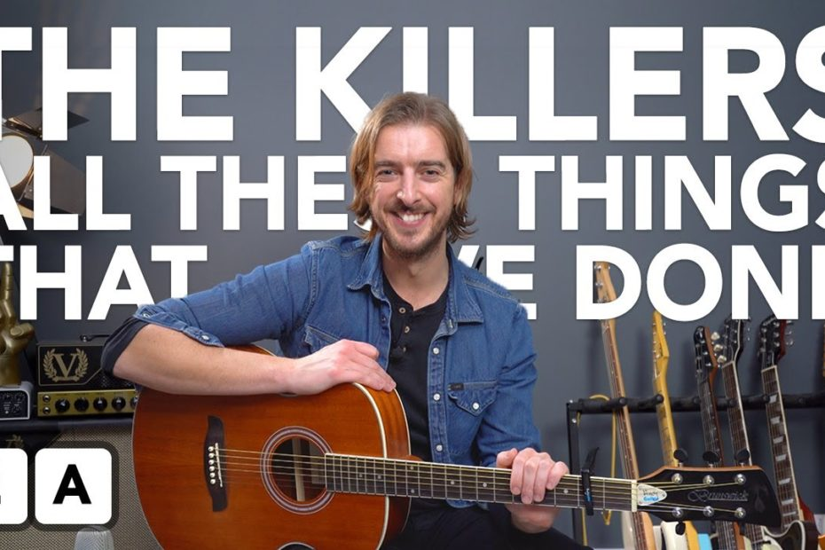 """EASY 2 chord Song by The Killers """"All These Things That I've Done"""""""