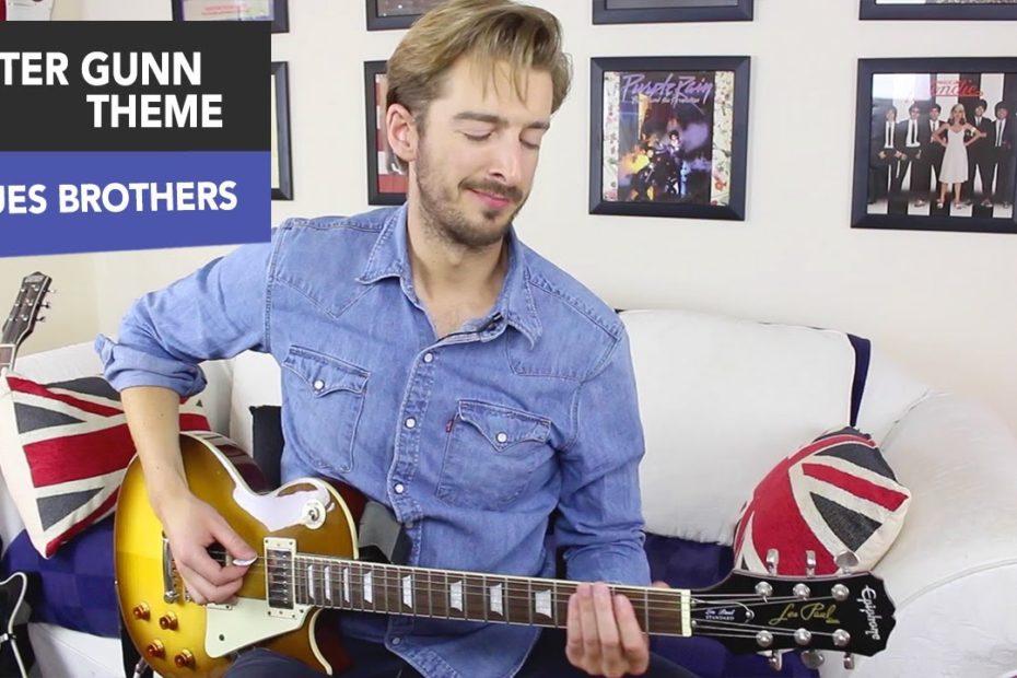 EASY Lead Guitar - Peter Gunn Theme Guitar Lesson Tutorial