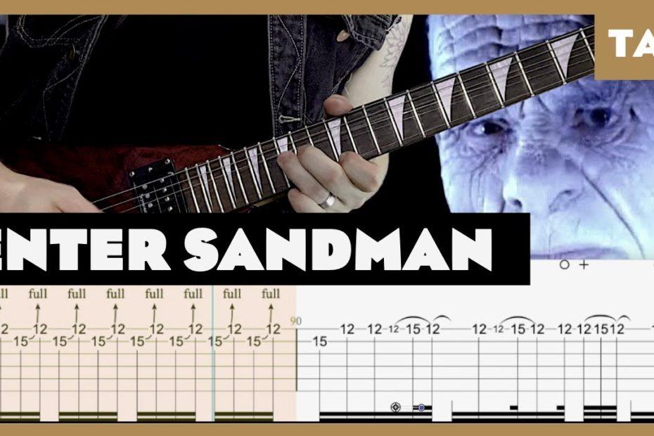 Enter Sandman Metallica Cover | Guitar Tab | Lesson | Tutorial