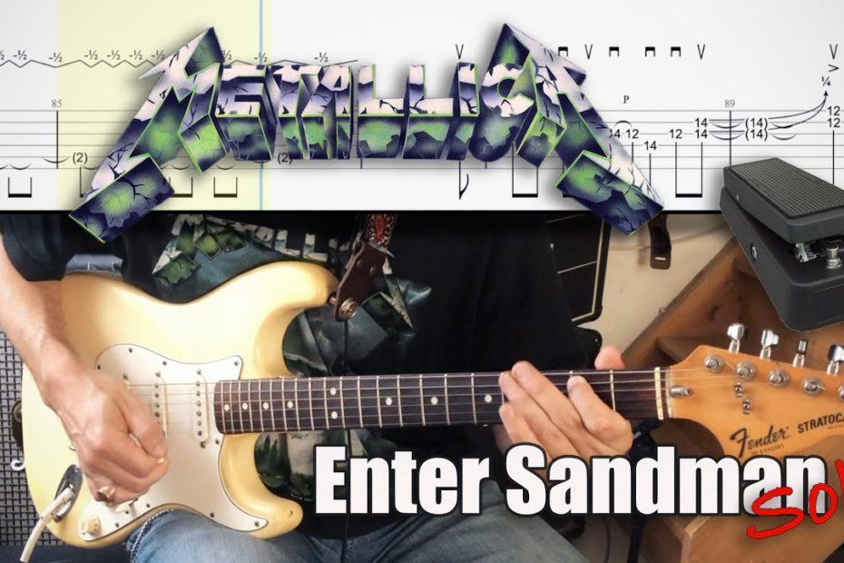 Enter Sandman Solo - Metallica Cover | TAB | Tutorial | 3 speeds