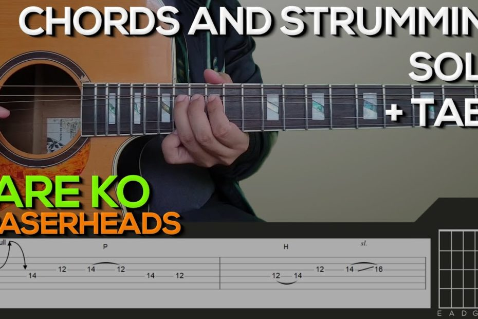 Eraserheads - Pare Ko Guitar Tutorial [SOLO, CHORDS AND STRUMMING + TABS]