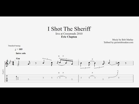 Eric Clapton - I Shot The Sheriff solo TAB - live - (PDF + Guitar Pro)
