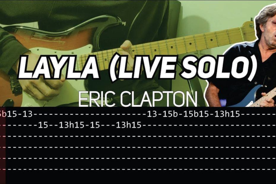 Eric Clapton - Layla solo Live at MSG (Guitar lesson with TAB)