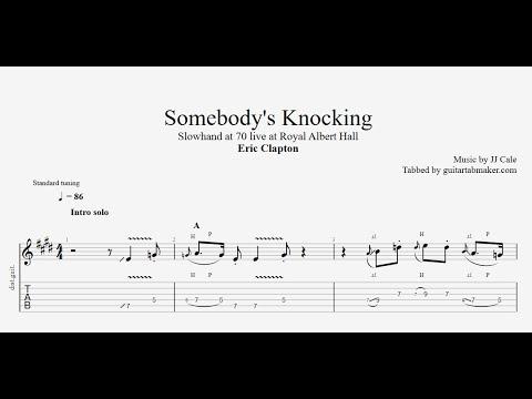 Eric Clapton - Somebody's Knocking solo TAB - live - (PDF + Guitar Pro)