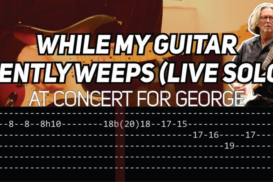 Eric Clapton - While my guitar gently weeps solo (Live at Concert for George)
