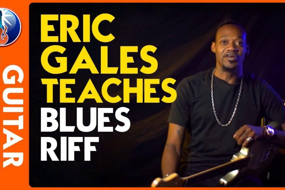 Eric Gales teaches blues riff ( plus inspirational advice)