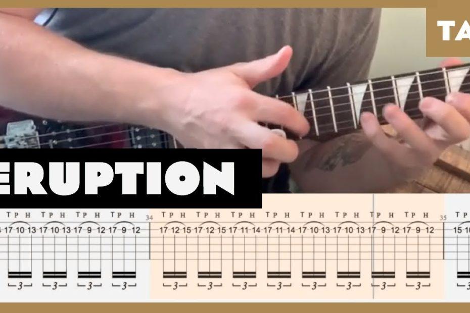 Eruption Van Halen Cover   Guitar Tab   Lesson   Tutorial