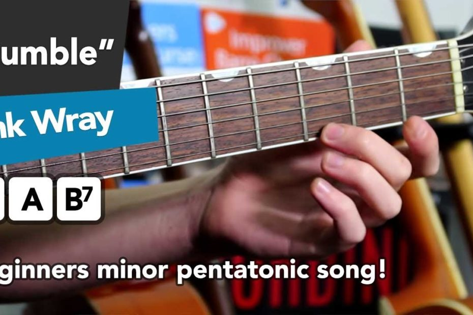 """ESSENTIAL Beginners Minor Pentatonic Song - """"Rumble"""" by Link Wray"""