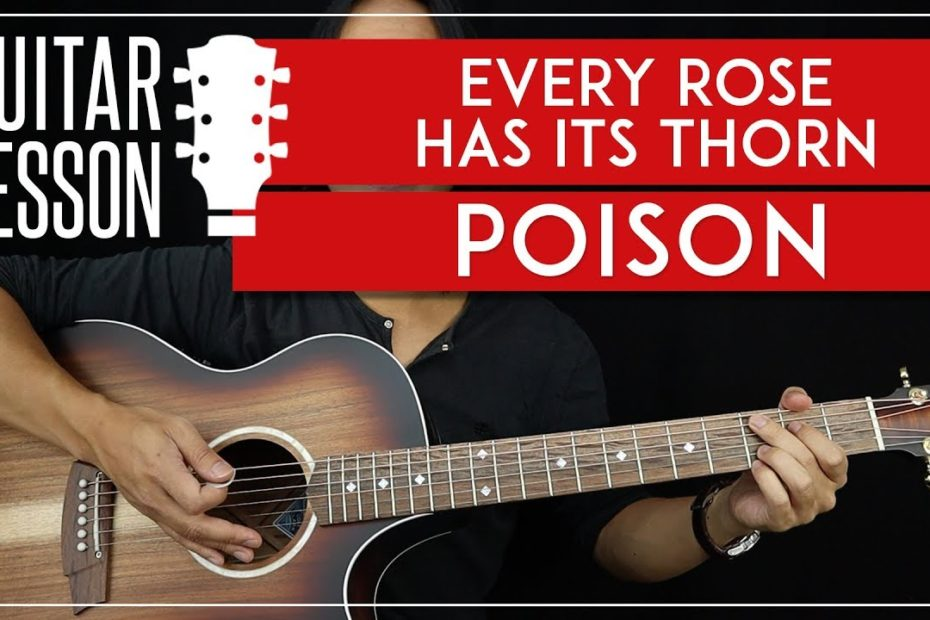 Every Rose Has Its Thorn Guitar Tutorial - Poison Guitar Lesson  |Easy Chords + Guitar Solos + TAB|