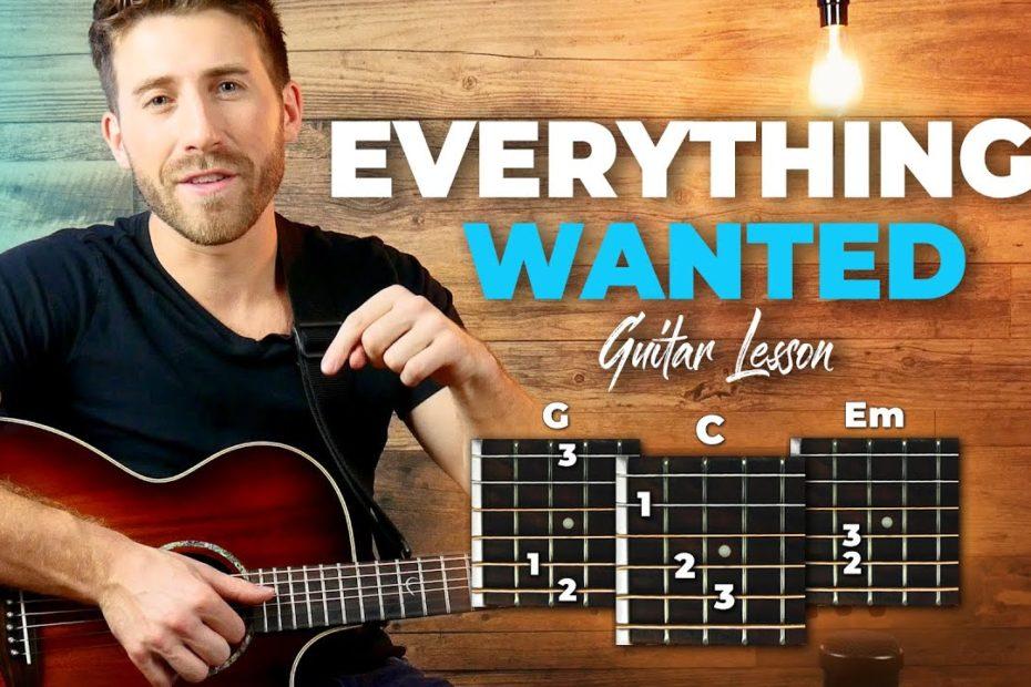 Everything I Wanted Guitar Tutorial/Lesson - Fingerpicking + Easy Chords (Billie Eilish)