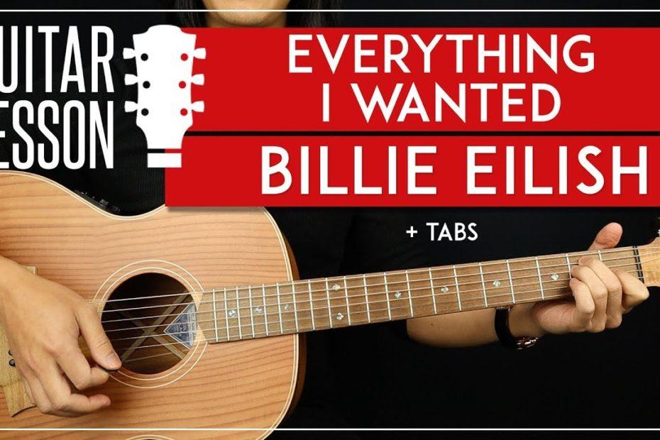 Everything I Wanted Guitar Tutorial    Billie Eilish Guitar Lesson |Easy Chords + TAB|