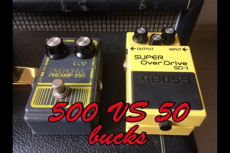 Expensive VS Cheap pedal : Grey DOD250 VS BOSS SD-1