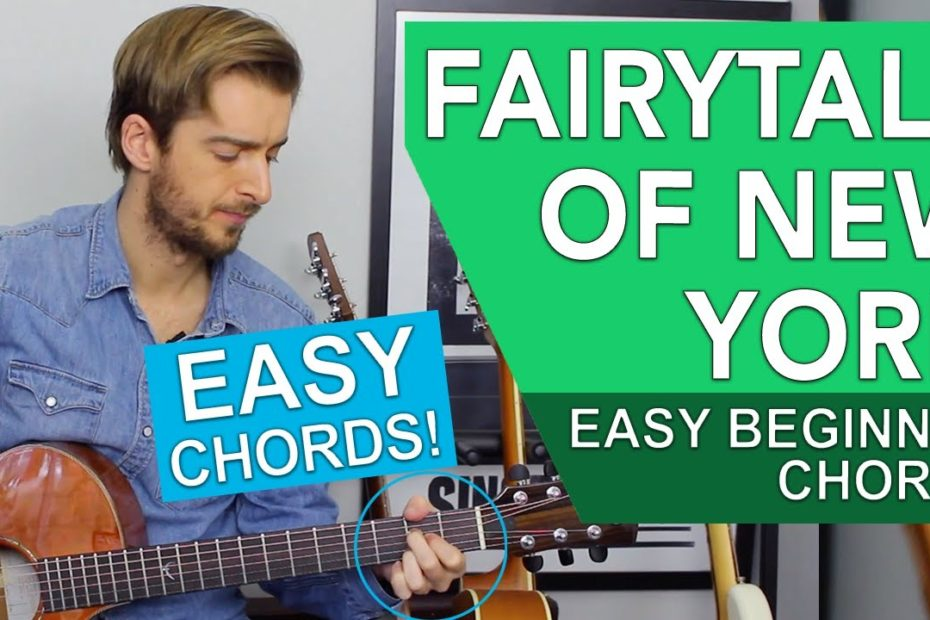 Fairytale Of New York Guitar Lesson Tutorial // EASY CHORDS // Christmas Songs on guitar