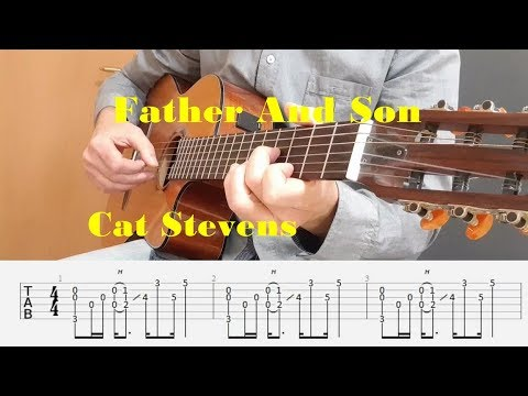 Father And Son - Cat Stevens - Fingerstyle guitar with tabs