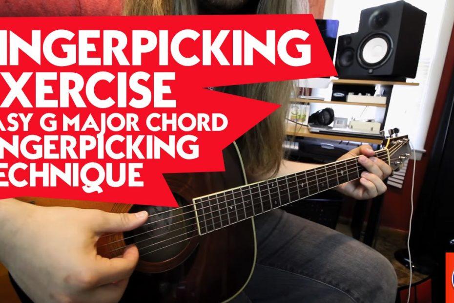 Fingerpicking Exercise - Easy G Major Chord Fingerpicking Technique