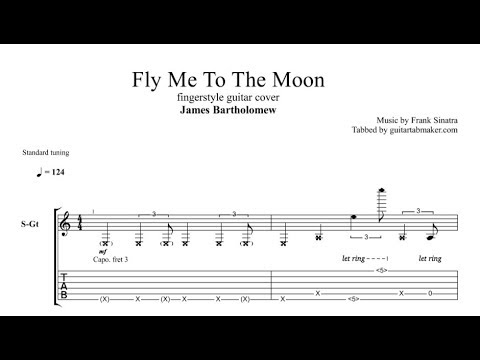 Fly Me To The Moon TAB - fingerstyle guitar tabs (PDF + Guitar Pro)