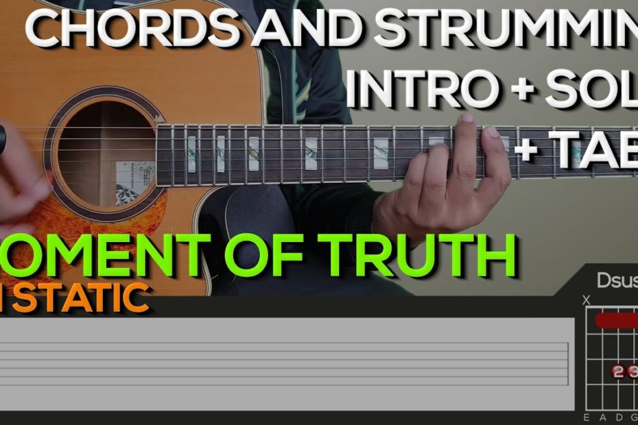 FM Static - Moment of Truth Guitar Tutorial [INTRO, LEAD, SOLO CHORDS AND STRUMMING + TABS]